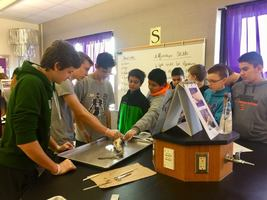 6th Grade visit High School Science class
