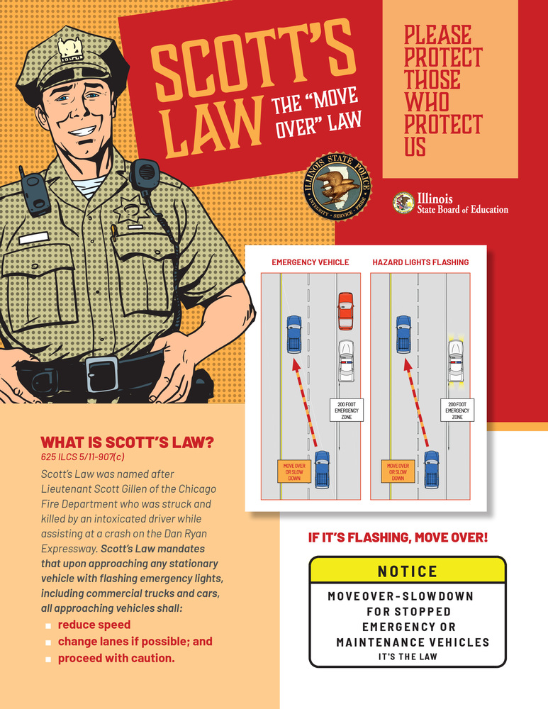 Scott's Law - If It's Flashing Move Over
