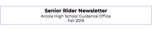 Senior Rider Newsletter- Fall 2019