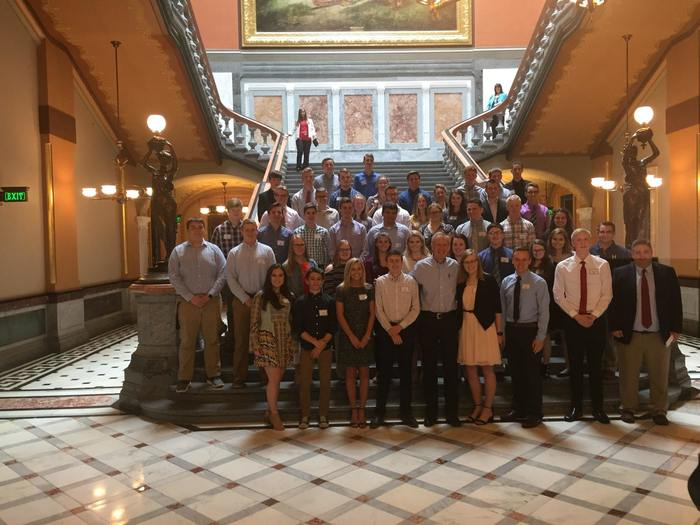 Area students with Governor Rauner
