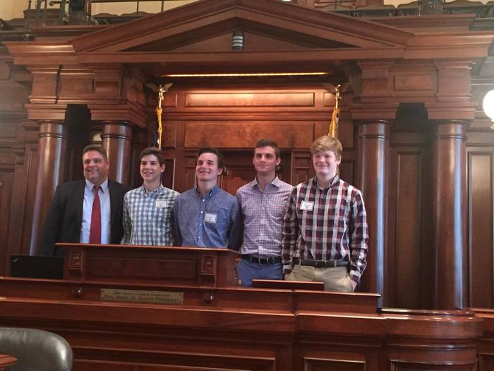 AHS students with Senator Rose