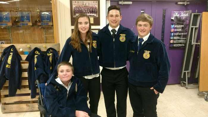 Josh Mathias,  Shelby Shafer, Austin Hopkins, and Gavin Coombe.