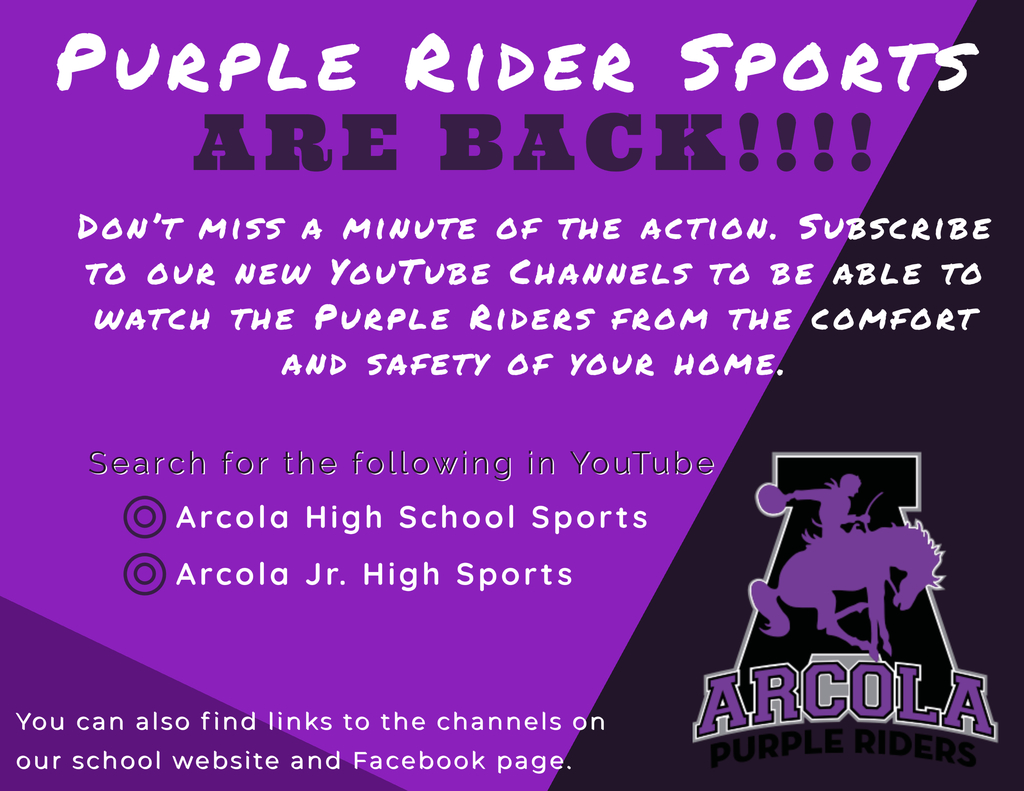 Purple Rider Sports are Back