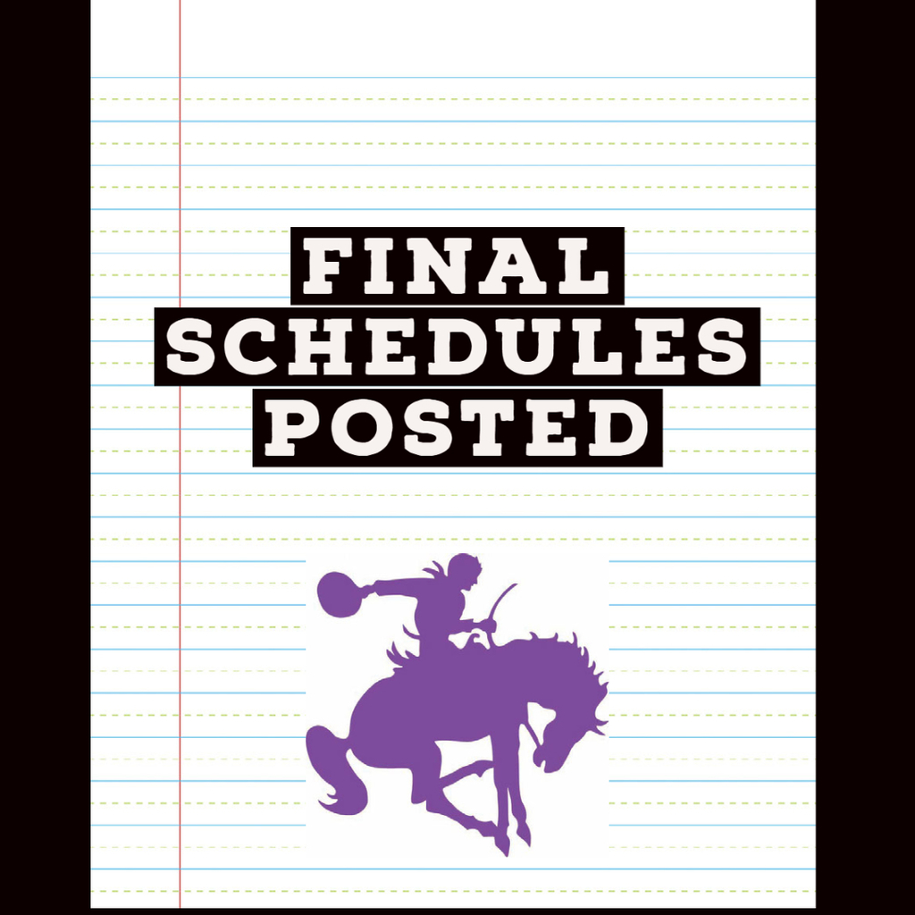 Final Schedules Posted