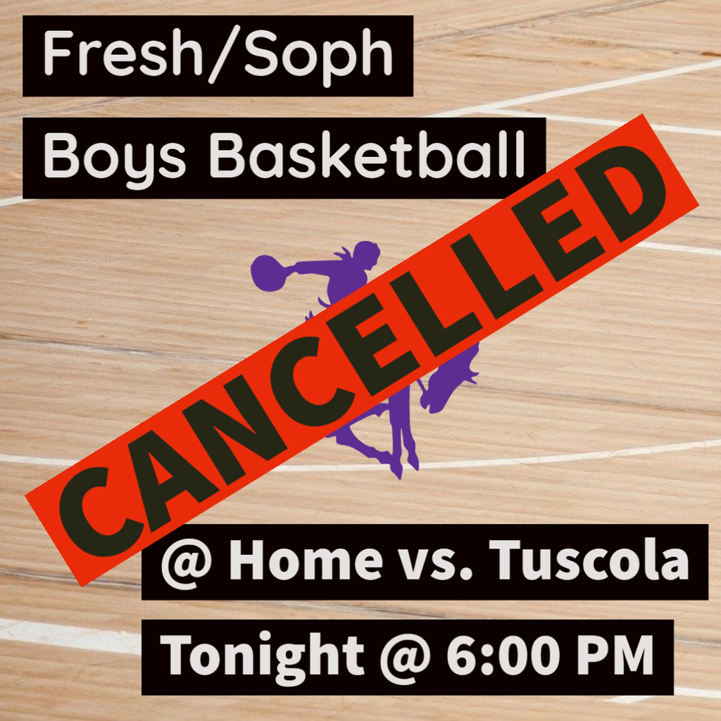 Fresh/Soph Game Cancelled