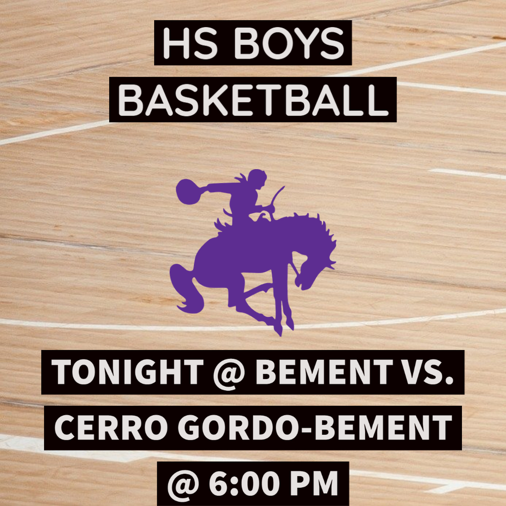 HS Boys basketball @ Bement