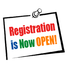 Registration Now Open Clip Art