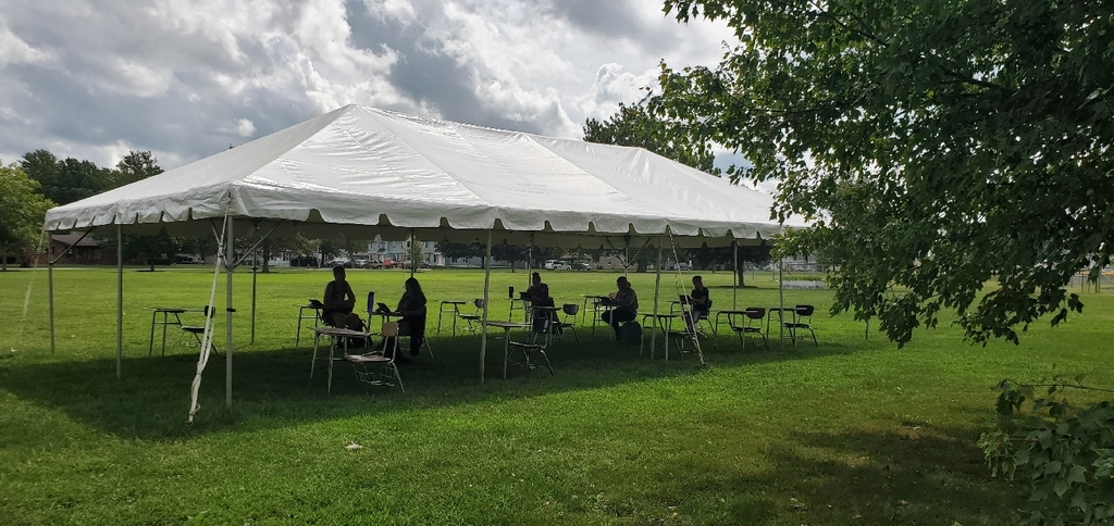 Tent on East lawn
